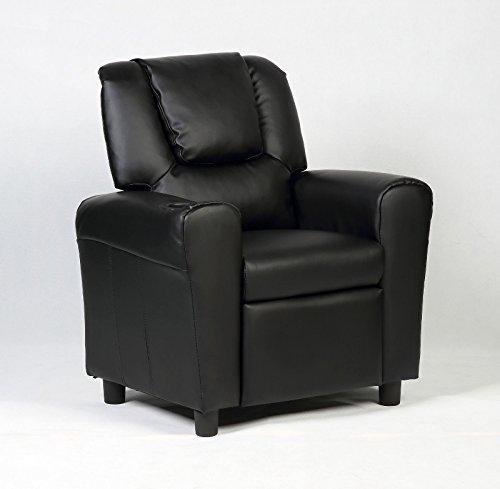 Costzon Children Recliner Kids Sofa Armchair Couch w/Cup Holder (Black)