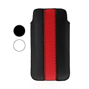 Hit Color Stripe Pattern Leather Case for iPhone 4/4S/5/5S/5C , White
