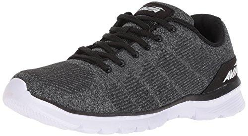 Avia Men's Avi-Rift Running Shoe, Black/Iron Grey/White, 12 2E -