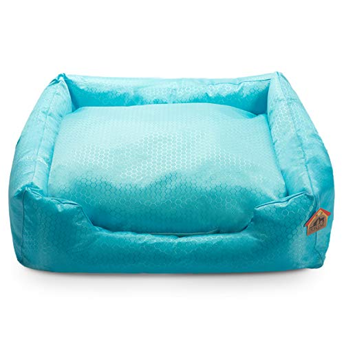 Hollypet Self-Cooling Pet Bed for Cats and Dogs Comfortable Nest Sleeping Bag House for Summer, Blue