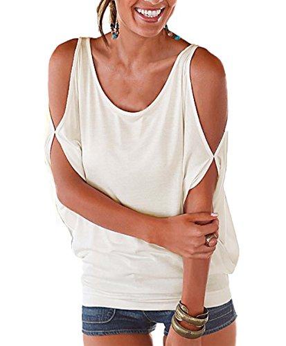 DREAGAL Womens Shoulder Batwing Sleeve