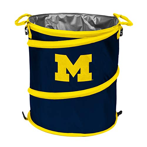 Michigan Wolverines Ncaa Collapsible - NCAA Michigan Wolverines Trash Can Cooler