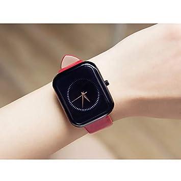 LKTGBRCVZJU Relojes Marea Tendencia Moda Reloj de Moda Cuadrado Correa Reloj de Cuarzo Resistente al Agua