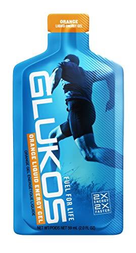 Glukos, Glucose Energy Gel, Orange 2.4 oz, 12 pack