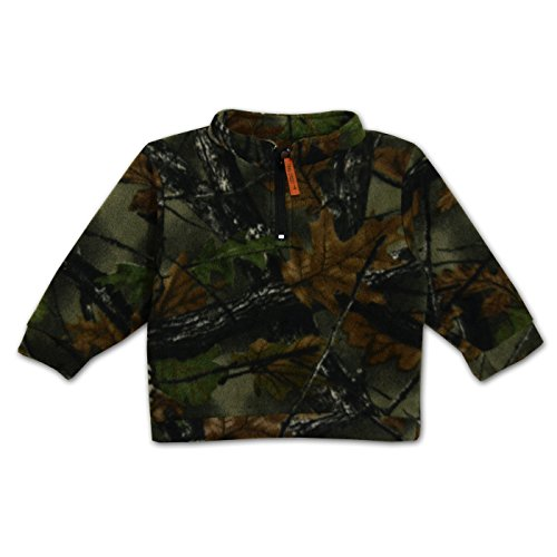 Trail Crest Kids Toddler 1/4 Zip Camo Fleece Top (CAMOFLAUGE 4T) ()