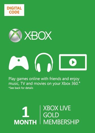 Xbox Live 1 Month Gold Membership Card