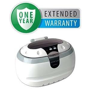 Professional Ultrasonic Jewelry and Eyeglass Cleaner Cleaning Machine & Bonus 1 Year Warranty