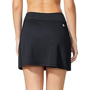 Baleaf Women's Active Athletic Skort Lightweight Skirt with Pockets for Running Tennis Golf Workout Black Size L
