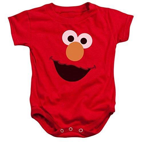 Infant: Sesame Street- Big Elmo Face Onesie Infant Onesie 1 x 1in