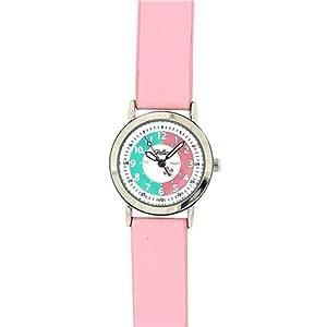 Reloj Didáctico Reflex para Niñas Caratula Blanca y Correa Rosa de PU 105013CC