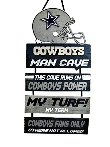 Forever Collectibles NFL Dallas Cowboys Wood SignMan Cave Design, Team Colors, One Size