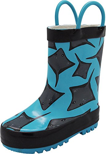 - NORTY - Boys Stingray Waterproof Rainboot, Turquoise, Black 40676-11MUSLittleKid