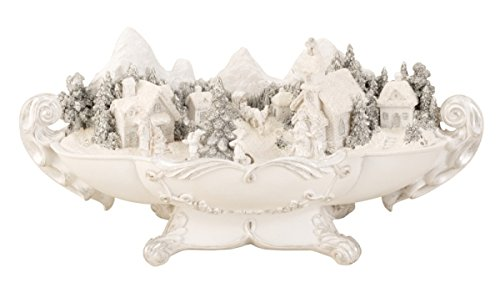 - BRUBAKER Snowy Village with LED Lights and Animated Figures - 15.5 Inches Wide - Christmas Decoration - Winter Scene