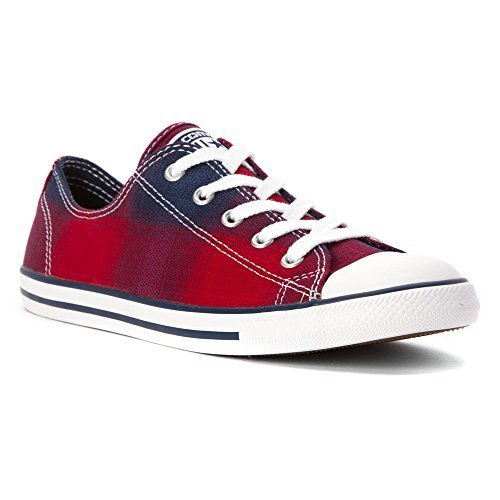 Converse [WMNS CT DAINTY-549611F] Chuck Taylor Dainty OX Womens Sneakers CONVERSECHILI Paste/RED/BLUEM
