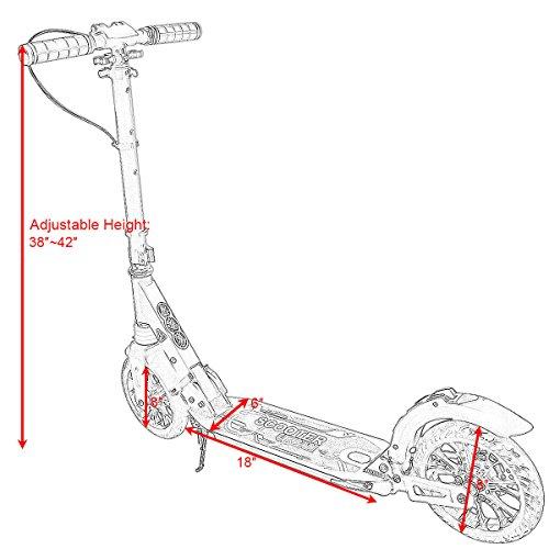 Goplus Adult Kick Scooter With Handbrake Dual Suspension Folding