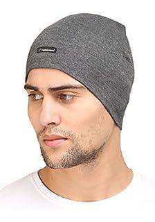 cf489b8db82 Buy FabSeasons Unisex Cotton Slouchy Beanie and Skull Cap (Black ...