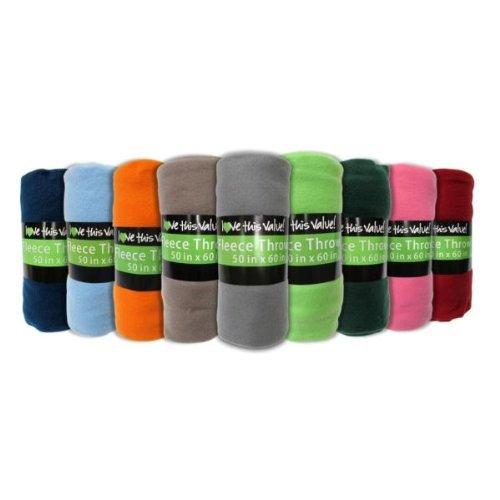 50 X 60 - Assorted Solid Color Fleece Blankets Case Pack 24