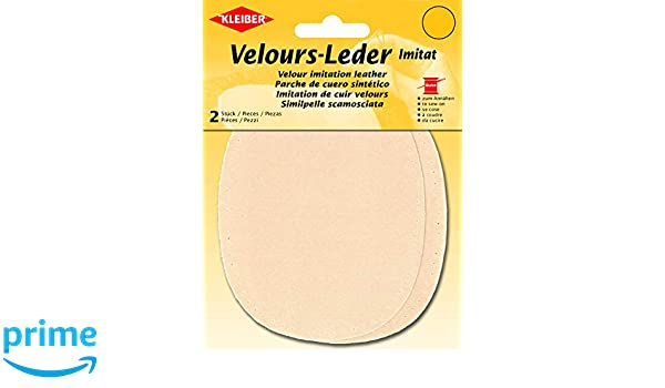 para coserlas 12,5 x 10 cm Rodilleras//coderas ovaladas de antelina color marfil Kleiber