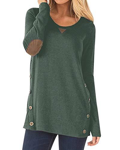 Aliex Women's Tunic Top Casual Long Sleeve Blouse T-Shirt Fa