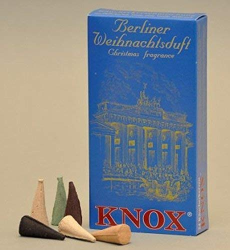 Knox Berlin German Incense Cones Variety Pack Made Germany for Christmas Smokers (Christmas Incense Cones)