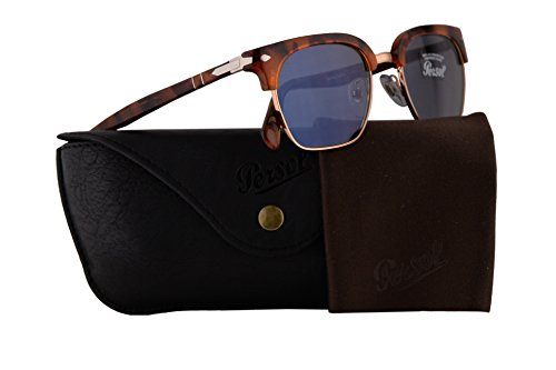 Persol PO3199S Tailoring Edition Sunglasses Tortoise Brown w/Light Blue Lens 50mm 107256 PO 3199-S PO3199-S PO 3199S