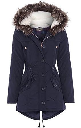 Navy blue women's coat uk