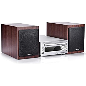 innovative technology 50 watt classic cd bluetooth stereo system mahogany wood. Black Bedroom Furniture Sets. Home Design Ideas