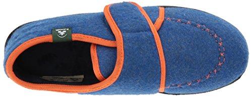 Kamik Boys' Cozylodge Slipper, Blue/Orange, 5 Medium US Toddler - Image 8