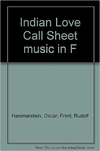 Indian Love Call Sheet music in F: Oscar