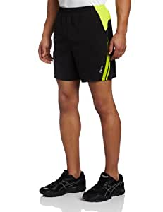 Asics Men's 2-in-1 Short, XX-Large, Black/Wow