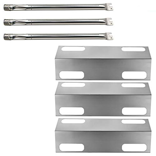 Ducane 3 Burner Stainless Steel - Hisencn Rebuild Kit Stainless Steel Heat Plate Tent Sheild Diffuser, Burner Pipe Tube Replacement for Ducane Affinity 3 Burner 3100, 3400 Gas Grill Models