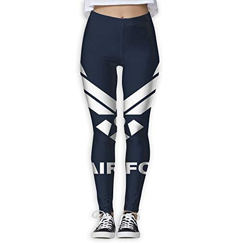 XXBOTEX Cool US Air Force Yoga Pants for Women Compression Leggings Women Running Pants Women Yoga Leggings White