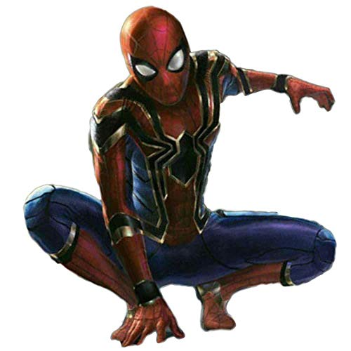 PIAOL Vengeance Spiderman Traje Cosplay Medias Iron Spiderman Impresión 3D,Red-S(150-160cm),Red-M ()