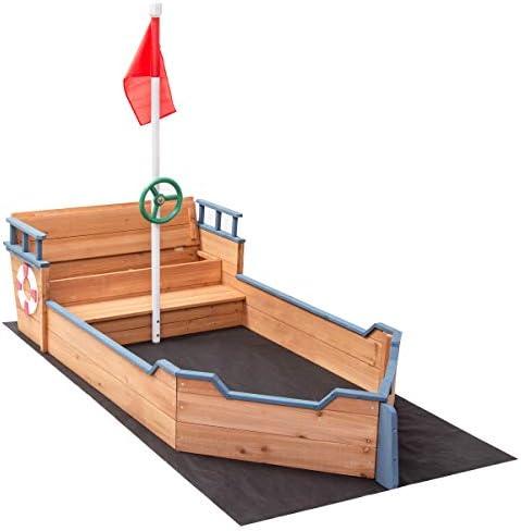 Costzon Pirate Sandbox Bench Sandboat product image