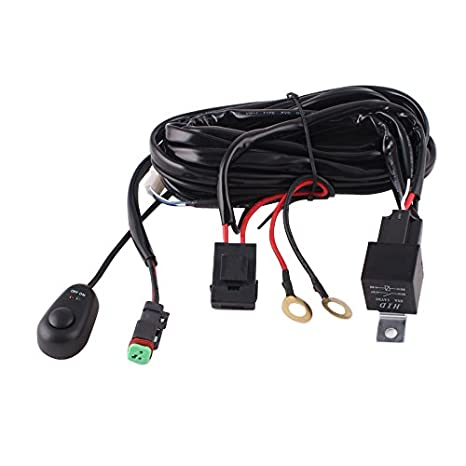 amazon com fly kan 10ft 14 gauge relay wiring harness for led light rh amazon com Custom Wire Harness Assembly 12 Volt Wiring