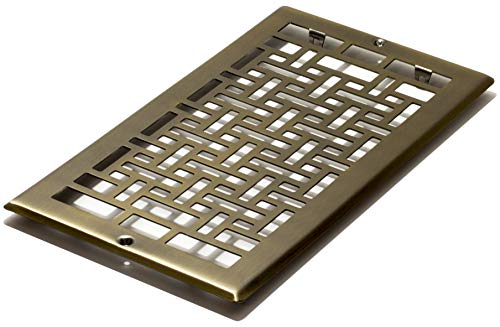 Decor Grates AJL612R-A Oriental Return, 6-Inch by 12-Inch, Antique Brass