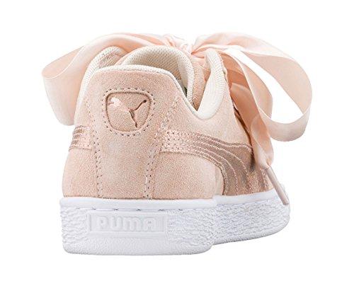 Puma Suede Heart Lunalux Wns, Sneakers Basses Femme Beige (Cream Tan)