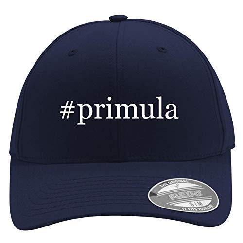 #Primula - Men's Hashtag Flexfit Baseball Cap Hat, Dark Navy, Small/Medium