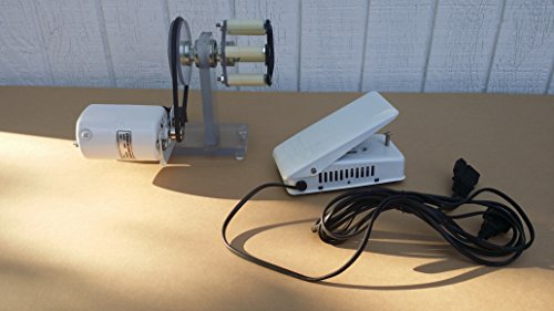 Power Wrapper (rod building lathe wrapper chuck and sewing machine motor and supports)