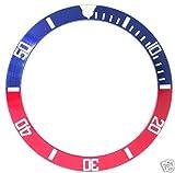 Bezel Insert for Rolex Submariner Red/Blue 16800 Sapphire