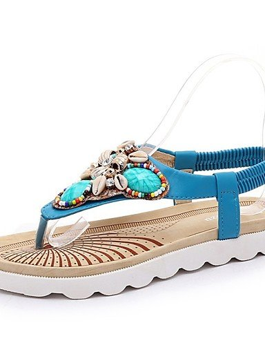 LFNLYX Zapatos de mujer-Tacón Plano-Zapatillas / Comfort / Innovador / Botas a la Moda / Zapatos y Bolsos a Juego-Sneakers a la Moda / Pantuflas Blue
