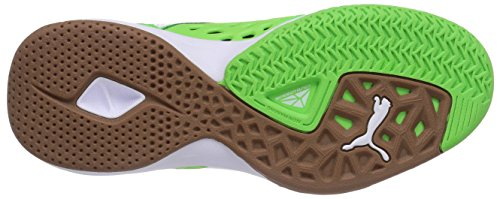 Puma Agilio LT - Zapatillas deportivas para interior de material sintético unisex verde - Grün (fluo green-white-black 03)