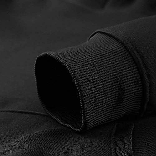 angwenkuanku Männer behalten Ruhe und Hakuna Matata Langarm-Pullover mit Kapuze Sweatshirt