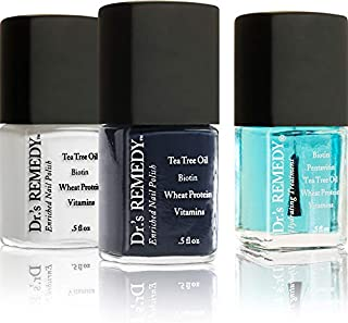 product image for Dr.'s Remedy Non Toxic Organic Natural Nail Polish Toenail Fungus Treatment 3 Piece Sets (Defeat Diabetes Kit - Noble Navy, Classic Cloud, Hydration Nail Moisture Treatment)