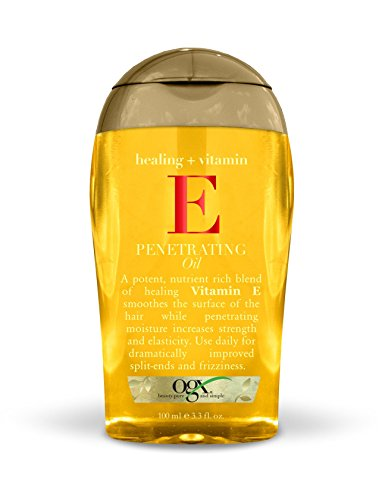 OGX Healing + Vitamin E Penetrating Oil, 3.3 oz, Hair Oil for Dry or Damaged Hair