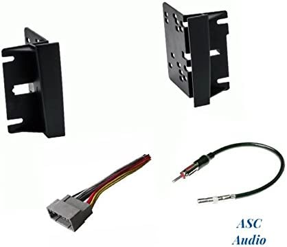 Wire Harness No Factory Premium Amp and Antenna Adapter for Installing a Double Din Aftermarket Radio for some 2004-2008 Chrysler Pacifica Premium ASC Audio Car Stereo Install Dash Kit