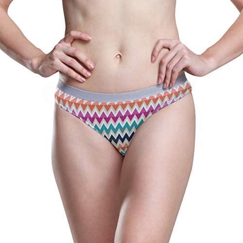 Vrouwen Ondergoed Bikini Blauw Rood Oranje Strepen Patroon 3D Gedrukt Sexy Lage Taille Slipje Hipster Comfortabele Slips S