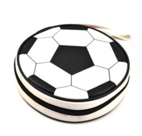 Cute Design Football, Watermelon, Baskeball, Tire and Hamburger Shape CD Storage Case Bag (Football)
