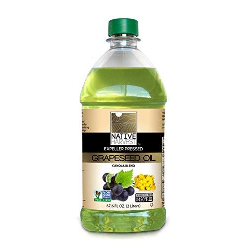 Native Harvest Expeller Pressed Non-GMO Grapeseed/Canola Oil Blend, 2 Litre (67.6 FL OZ)