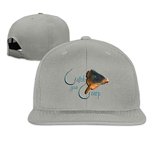 Catch Your Carp Washed Unisex Adjustable Flat Bill Visor Baseball Cap (Ashes Of American Flags Dvd)